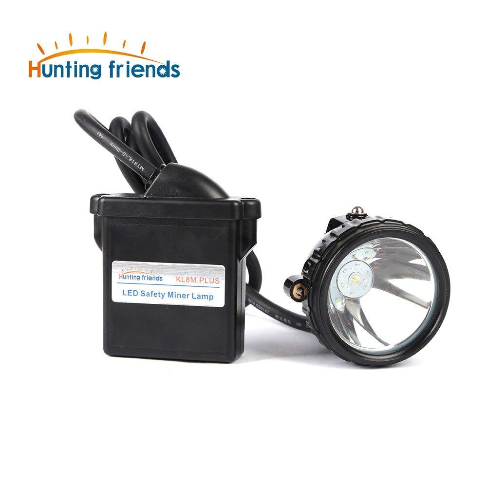 Налобный фонарь 1 + 6 LED для охоты KL8M.Plus, профессиональная Взрывозащищенная горная лампа, водонепроницаемая фара для улицы