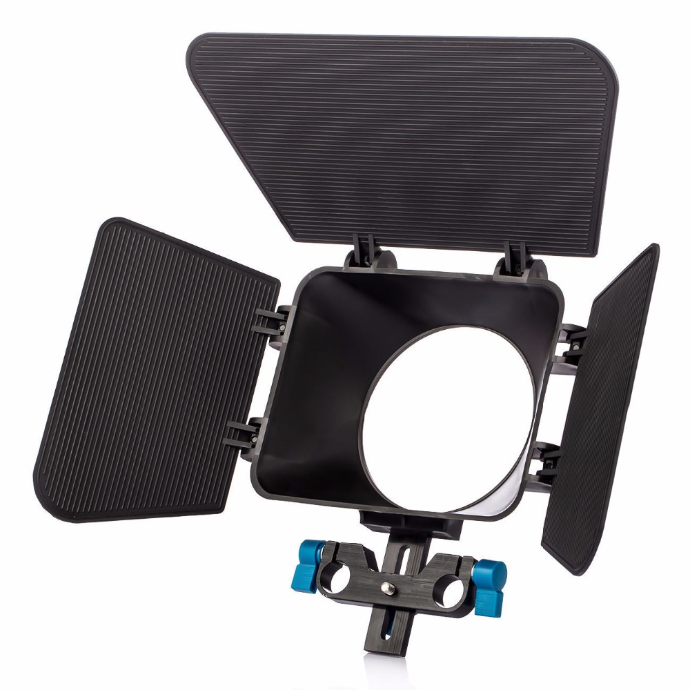 Al por mayor HDSLR DSLR caja mate 15mm varilla 5DII 7D 60D 550D D7000 a 77mm lente