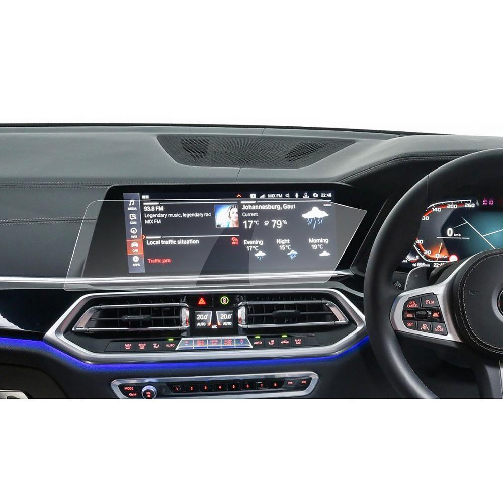 Display de Navegação do Carro Leme à Direita Protetor de Tela para 2020 Ruiya Polegada Toque 9h Vidro Temperado Película Protetora Bmw x5 G05 12.3