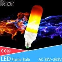 New LED Flame Bulbs Fire Corn Light AC85 265V 2835 SMD E27 E26 Energy Saving Lamp