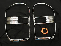 Toyota rav4 accessories abs chrome rear lamp cover strips trim fit for toyota rav 4 2001 2005 tail light cover car styling QA