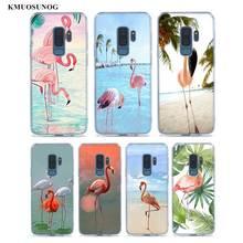 цена на Transparent Soft Silicone Phone Case Pink Flamingo Tropical Flamingo For Samsung Galaxy S9 S8 Plus S7 S6 S5 Edge Note 9 8