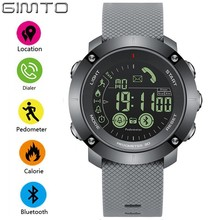 GIMTO Sport Smart Watch Men Pedometer LED Shockproof Waterproof Watch Digital Clock Electronic Wrist Watches Military