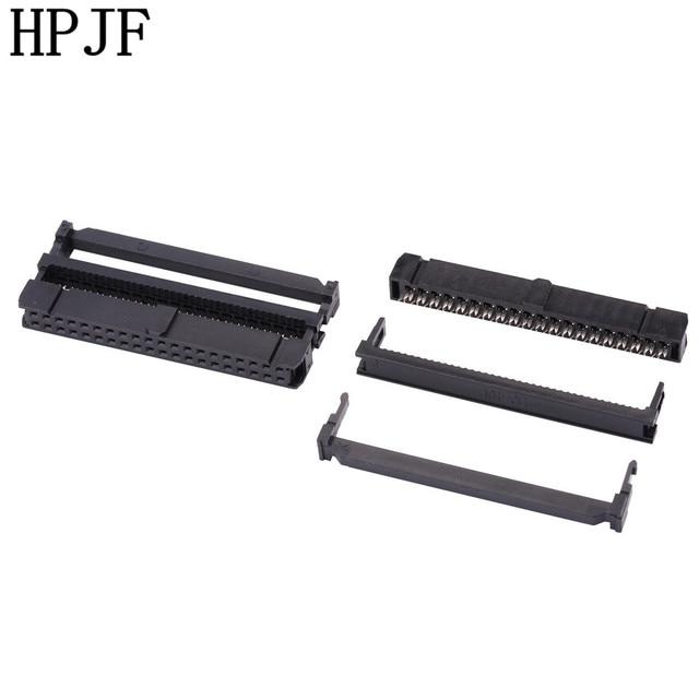 10 conjunto FC-6/8/10/14/16/20/26/30/34/40/50 p idc 2x3/4/5/7/8/10/13 /15/17/20/25 pinos dupla fileira passo 2.54mm idc conector cabo soquete