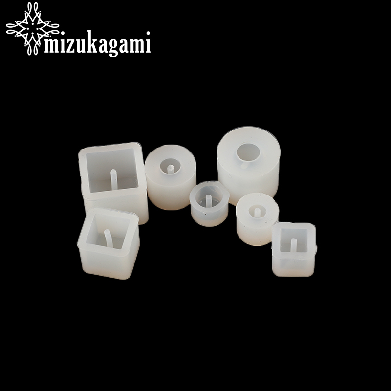 Liquid Silicone Mold UV Resin Jewelry Ball Shape & Square & Cylinder Beads Mold Resin Molds For DIY Making Jewelry