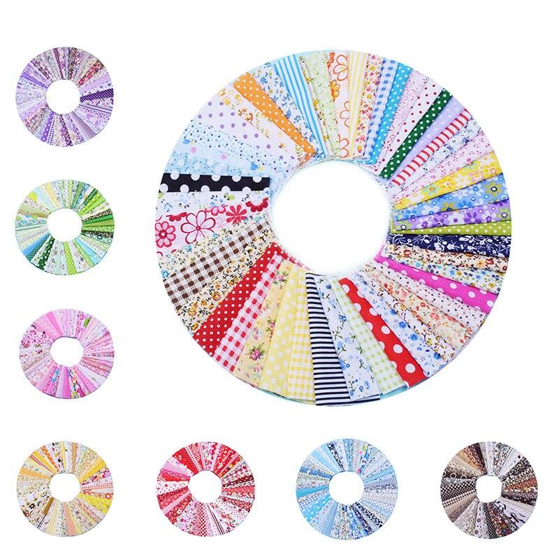 50 шт. 10 см x 10 см из хлопка с принтом ткань шитье стеганое ткани для пэчворка рукоделие DIY материал