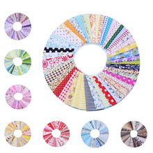 50Pcs 10cmx10cm Cotton Fabric Printed Cloth Sewing Quilting Fabrics for Patchwork Needlework DIY Material