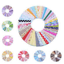 50Pcs 10cmx10cm Cotton Fabric Printed Cloth Sewing Quilting Fabrics for Patchwork Needlework DIY Material(China)