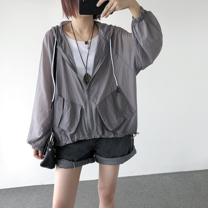 Carol Diaries   Jackets   New Fashion Bomber   Jacket   Women's Hooded   Basic     Jacket   Casual Thin Windbreaker Female Outwear Women Coat