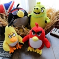 4pcs/lot 20cm HOT Flying red black birds pig plush kids toys 3D Cartoon Kawaii animal birds action & toy figure & hobbies