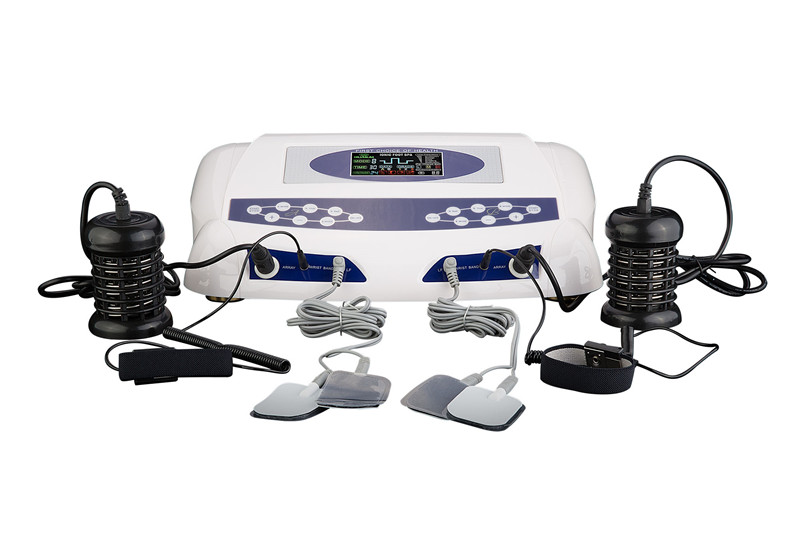 Ion Cleanse Foot Spa Detox Machine for Two Persons AH-805C Single Screen with Dual Massager Slippers and portable Aluminum Box for single person use and salon use ionic foot detox spa machine