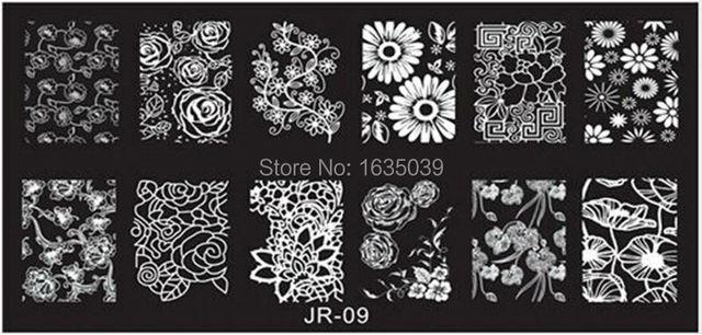 Freeshipping JR НОВЫЙ Konad Nail Art Плиты Изображения Ногтей Шаблон Ногтей Стампер Ногтей Диск 30 Конструкций