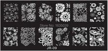 Freeshipping JR NEW Konad Nail Art Image Plate Nail Template Nail Beauty Stamper Nail Disk 30 Designs