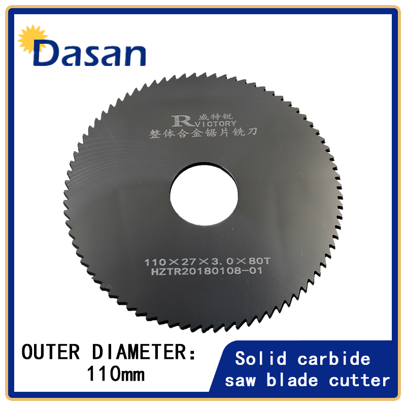 1PCS Circular Saw Blade 110mm Thick 0.8mm to 3mm 80T Solid Carbide Round Slitting Saw Cutter CNC Metal Wood Cutting Tool 10 60 teeth wood t c t circular saw blade nwc106f global free shipping 250mm carbide cutting wheel same with freud or haupt