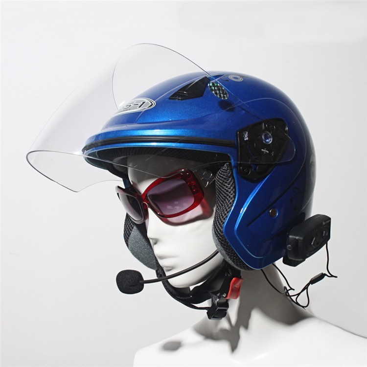 500M Wireless Bluetooth Motorcycle Helmet Intercom for 2 Riders Interphone Earphone Headset 1PcsSet (23)