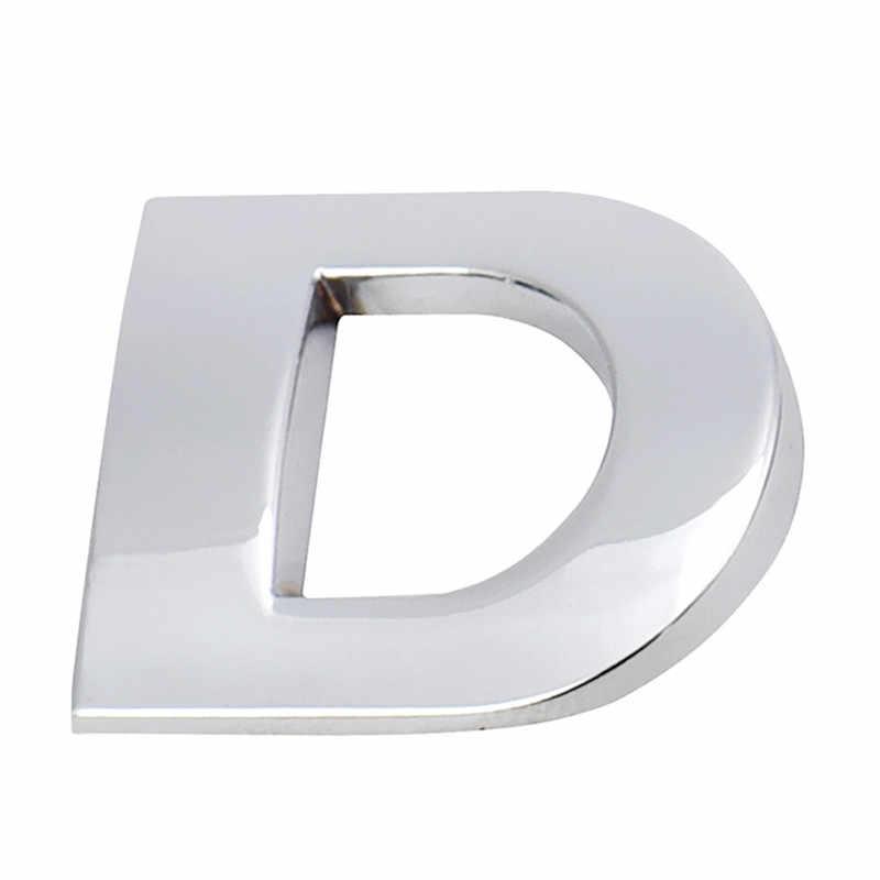 Hot-selling (A-R) 3D DIY Metallic Alfabet Sticker Auto Embleem Brief Zilveren Badge Decal SL Dropship 170912 **