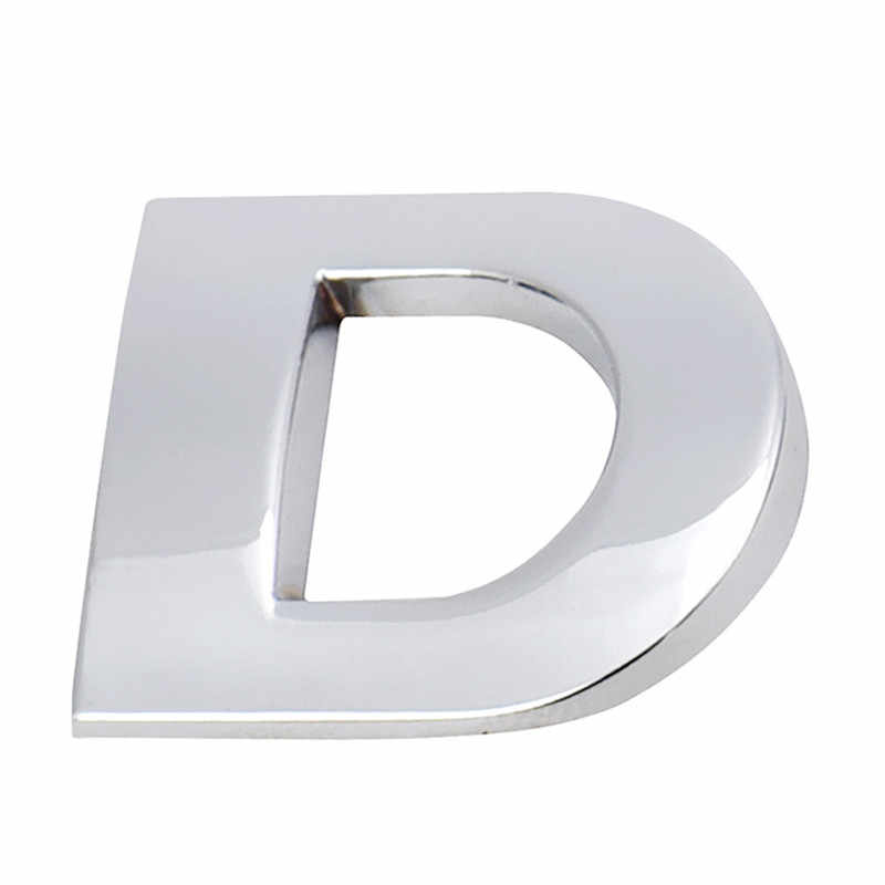Sıcak satış (A-R) 3D DIY metalik alfabe Sticker araç amblemi mektubu gümüş rozet çıkartması SL Dropship 170912 **