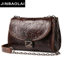 Ladies Vintage Tote Shoulder Bag Women Genuine Leather Handbags Famous Designer Small Messenger Bags High Quality Shoulder Bag new arrival women handbag genuine leather tote bag famous brand embossed cowhide vintage messenger shoulder bags high quality