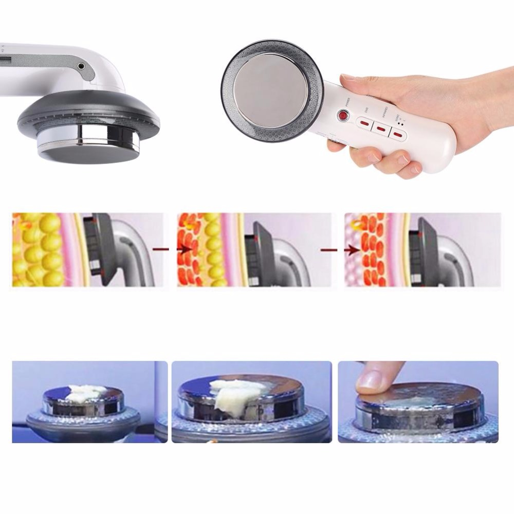 EMS Body Slimming Massager Ultrasound Cavitation Weight Loss Device White Infrared Fat Burner Therapy Machine Fat Burner