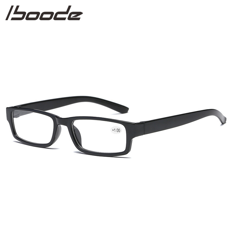 IBOODE TR90 Square Reading Glasses Presbyopic Eyeglasses Female Male Hyperopia Eyewear Unisex Ultralight Diopter Spectacles