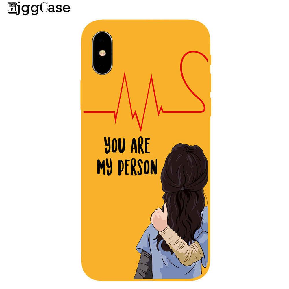Grays Anatomy Kau Orang Warna Silikon Phone Case untuk Coque iPhone 7 8 6 6 S PLUS 5 5S 11 Pro X XS Max XR TPU Soft Cover