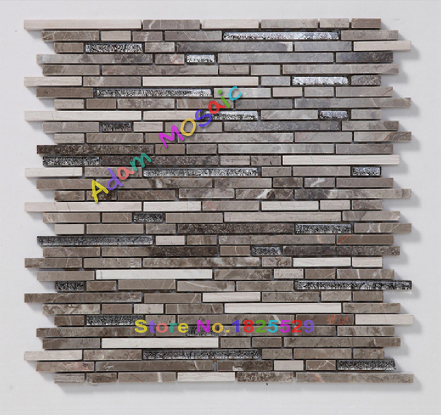 Natur Marmor Stein Fliesen Grau Streifen Fliesen Braun Küche Backsplash  Mosaic Fliesen U Mosaik