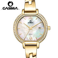 CASIMA luxury brand Bracelet watches women Fashion casual ladies quartz wrist gold watch women's waterproof with rhinestones