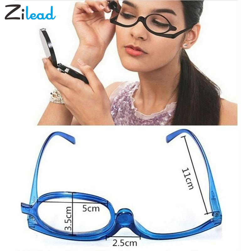 Zilead Magnifying Glasses Rotating Makeup Reading Glasses Folding Eyeglasses Presbyopia General +1.0 +1.5 +2.0+2.5+3.0+3.5+4.0