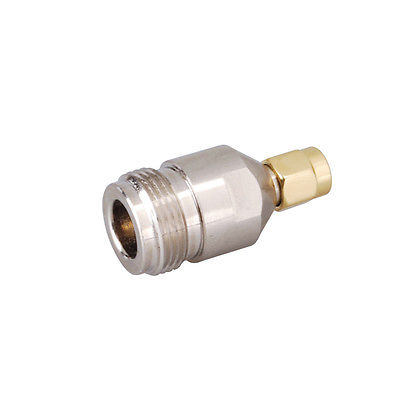 SMA-N adapter SMA plug to N Type Jack Female straight connector 1pc adapter n plug male nickel plating to sma female gold plating jack rf connector straight