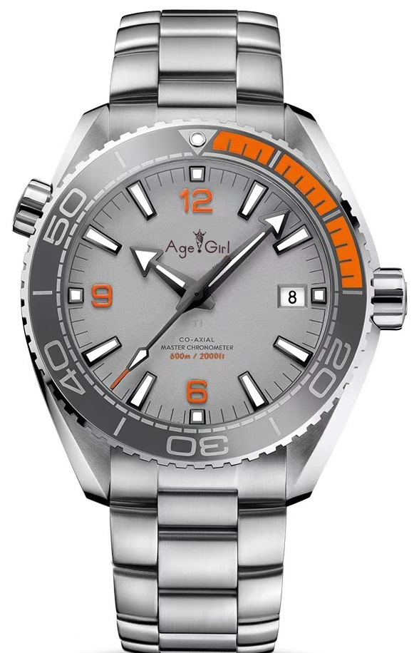 Luxury Brand New Men Automatic Mechanical Orange Black Ceramic Bezel Grey Blue Stainless Steel James Bond 007 Sapphire Watch AAALuxury Brand New Men Automatic Mechanical Orange Black Ceramic Bezel Grey Blue Stainless Steel James Bond 007 Sapphire Watch AAA