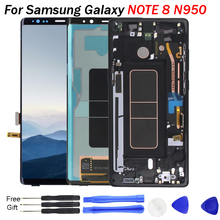 купить 2960*1440 6.3'' Super AMOLED display screen for samsung galaxy note 8 lcd screen digitizer touch screen assembly with free tools дешево