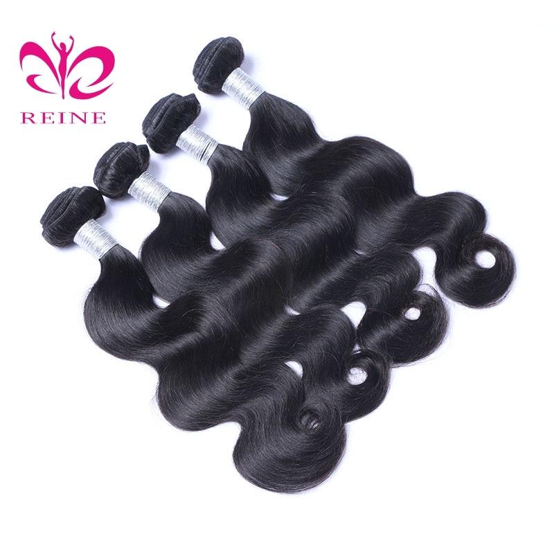 Reine Hair Brazilian Hair Body Wave Bundles Natural Black Color 100% Human Hair Weaving 10 to 28 none remy Free Shipping