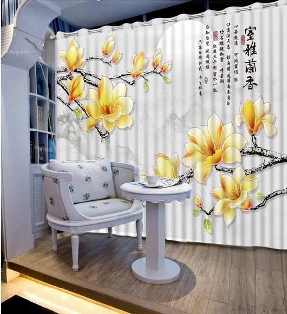 Chinesische Dekoration Küche Vorhang Blume Und Mond White Fenster