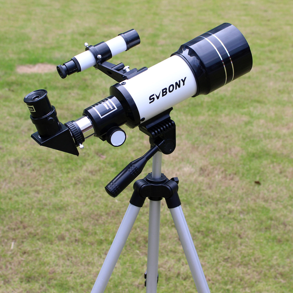 SVBONY Refractive Astronomy Telescope Monocular 70mm (300mm) with Tripod For Entry level Amateur Astronomer & Children F9313 f40040m entry level zoom terrestrial astronomical telescope compact tripod outdoor monocular telescope children gift kids toy