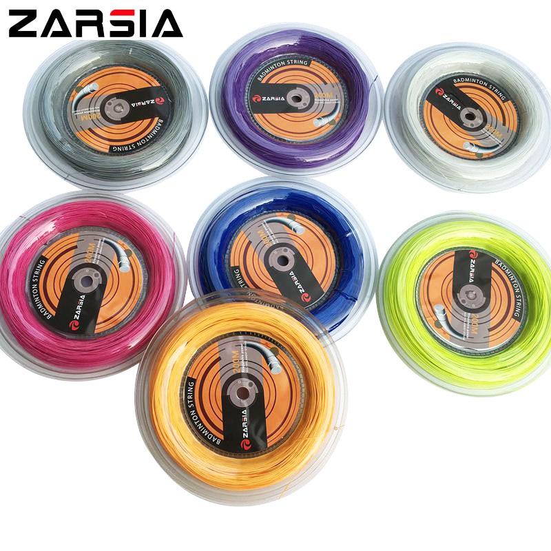 1 Reel ZARSIA 0.7mm badmintona stīgu spole 200M (8 krāsas) 24-28 lbs spriegums