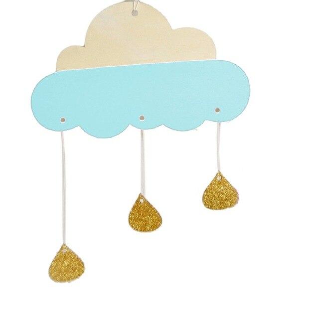 Mode 3D Holz Regen Wolke Wandaufkleber Für Kinderzimmer Retro ...