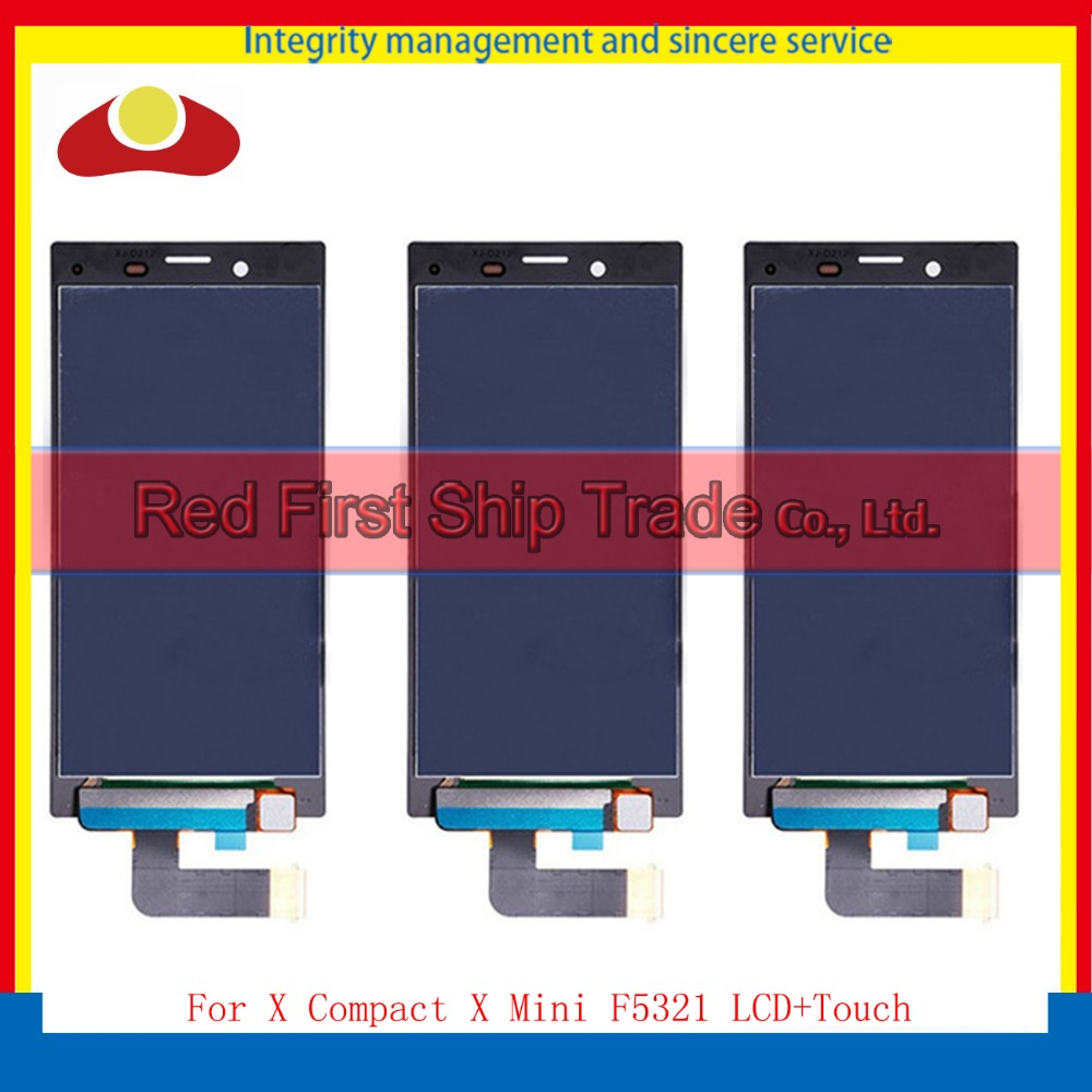 Подробнее о 10Pcs/lot DHL For Sony Xperia X Compact X Mini F5321 Full Lcd Display With Touch Screen Digitizer Assembly Complete White Black 10pcs lot aaa 5 black white lcd for sony xperia z1 l39h lcd display touch screen digitizer frame assembly l39 c6902 c6903 dhl