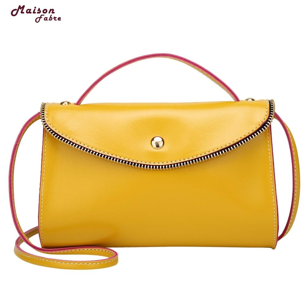 Maison Fabre Fashion Women Leather Hit color Crossbody Bag Shoulder Bag Hand Bag Dropshipping _E22