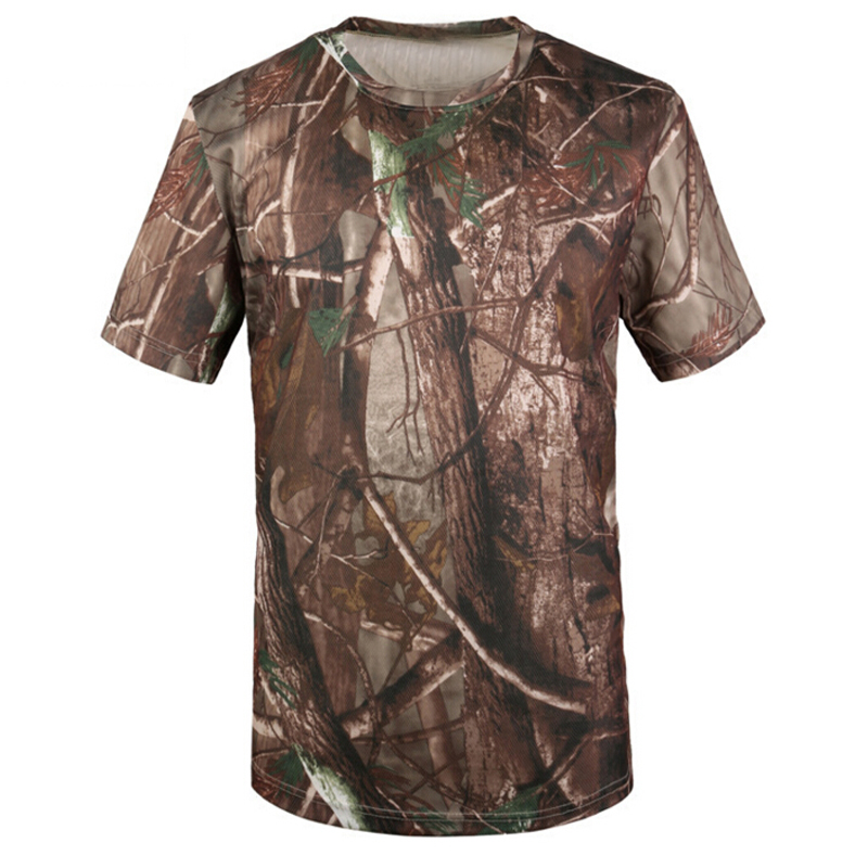 Military T shirt Quick Dry Camouflage Breathable T-shirt Army Sportswear Camo Brand Tee Tops Camisetas Hombre Tshirt Clothing