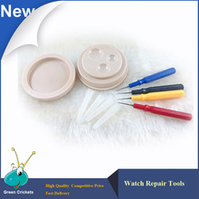 2016 Latest Watch Repair Tool Watch drop oiler set, Plasct Watch Oil Dish with 4 pieces oil-pin for watchmaker reparing