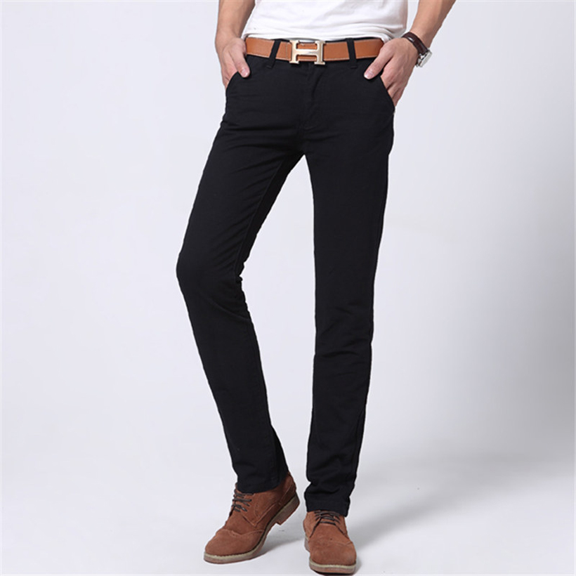 New 2016 Fashion Mens Jeans men Slim fit Straight Casual Men s Pant red khaki blue