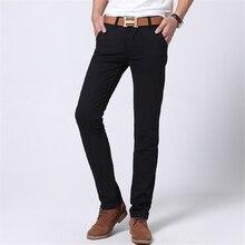 New 2016 Fashion Mens Jeans men Slim fit Straight Casual Men's Pant red/khaki/blue 8colors hombre pantalones cargo