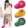 Genuine leather children shoes girls girl shoes cowhide Moccasins casual single shoes
