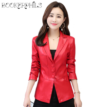 Faux Leather Jacket Women Spring Autumn 2019 Plus Size 5XL Coat Short Motorcycle Female Outerwear