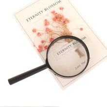 Children Magnifying Glass Hand Held 60mm Magnifier 5X Loupe Reading Lens