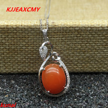 KJJEAXCMY fine jewelry s925 silver color treasure natural South red pendants to send necklaces a natural quality goods color ice stone bracelet send certificates send jewelry box