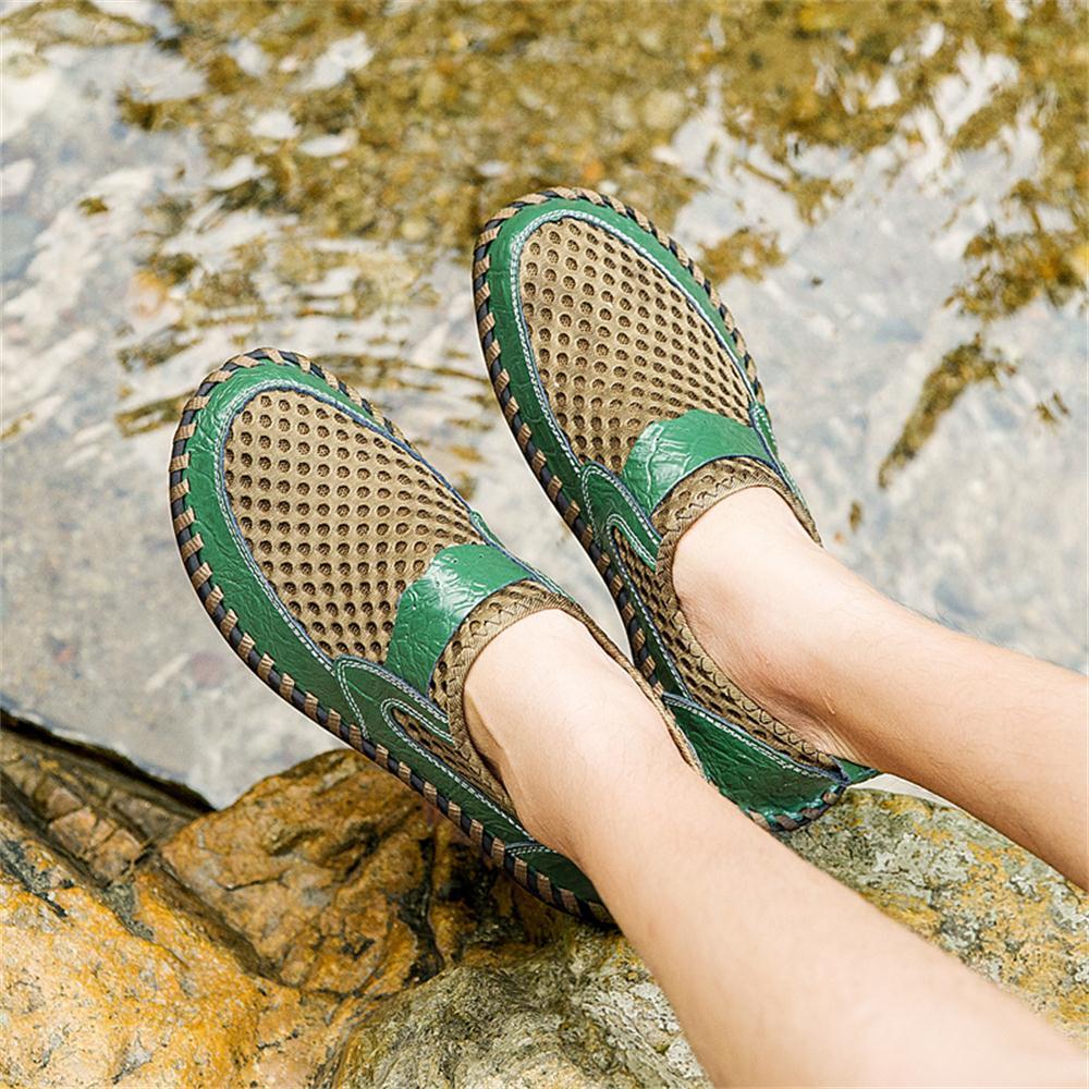 2019 Summer Big Size Men's Net Shoes Sandals Breathable Men Business Casual Shoes Fashion Driver Shoes 4
