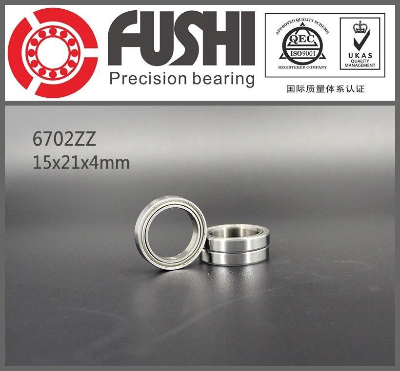 6702ZZ Bearing 15*21*4 mm ( 10 PCS ) ABEC-1 Slim Thin Section 6702 Z ZZ Ball Bearings 61702 ZZ 6702z