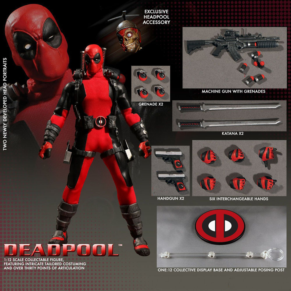 Movie Deadpool One:12 Collective Action Figure Mezco Toys 16cm/6 New Free Shipping hardin collective action
