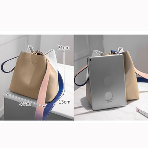 Image 2 - 2020 Fashion Women Bag Summer Bucket Bag Women PU Leather Shoulder Bags Brand Designer Ladies Crossbody Messenger Bags Totes Sac